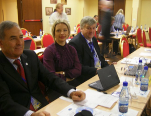 2011 in Montenegro assisting Russian representative at the FAI Parachuting Commission meeting