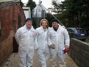 March 2011 with Hermitage Genetics and Ukrainian importers of the pedegree pigs